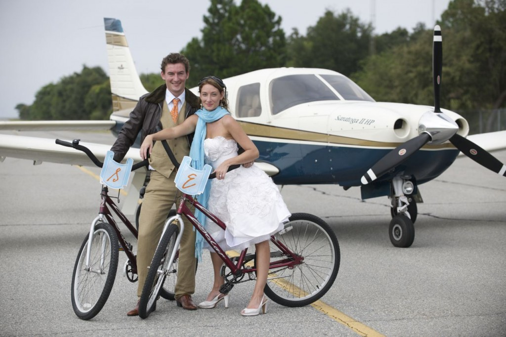 bikes and plane