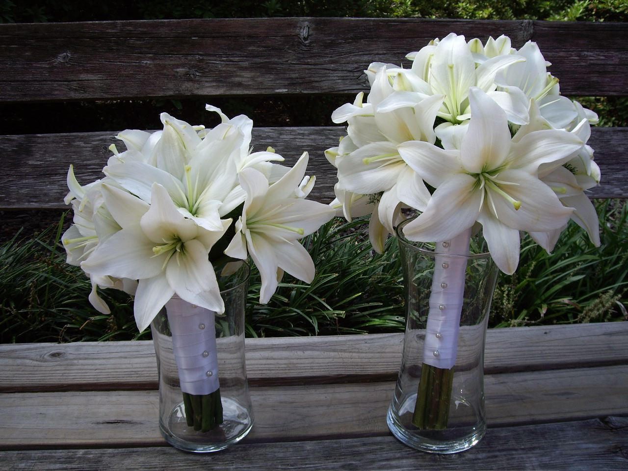 Simple Lily Bridal Bouquet : Savannah wedding of jaime logiudice and forrest griffin