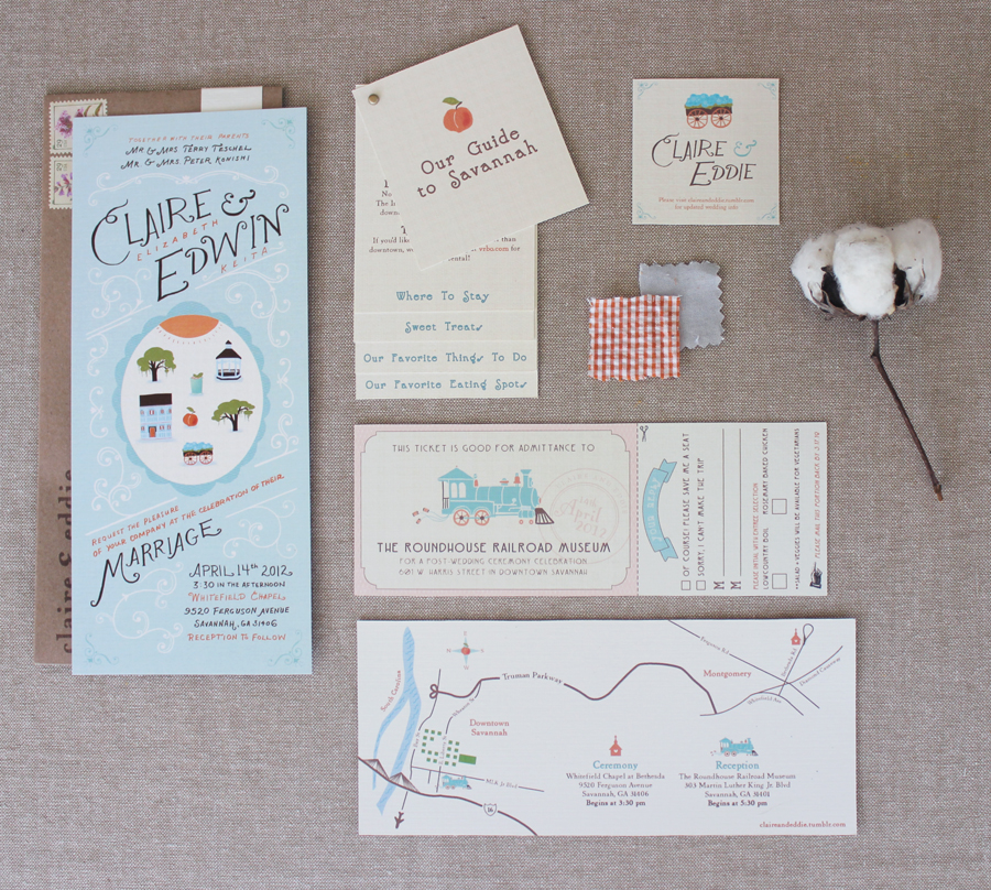 Vintage Savannah Wedding Invitations from The Nimbus Factory ...